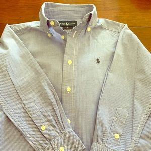 Boys Ralph Lauren Check Button Down